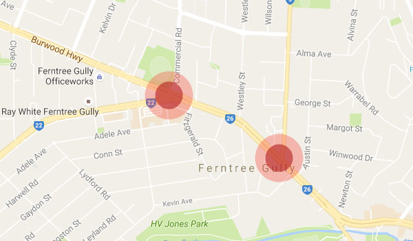 ferntree gully hot spots