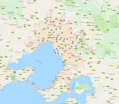 greater melbourne are map for sell unregistered vehicle