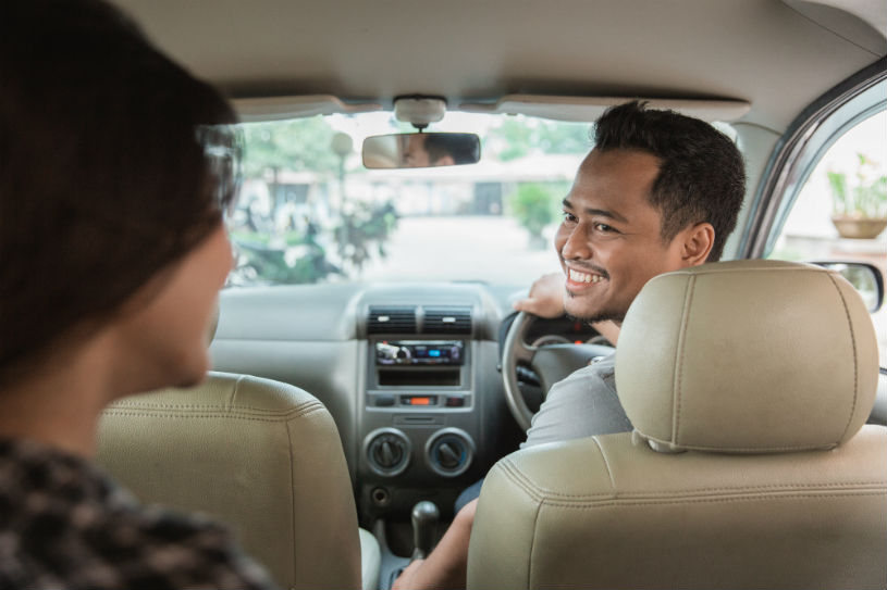 male uber driver ride share