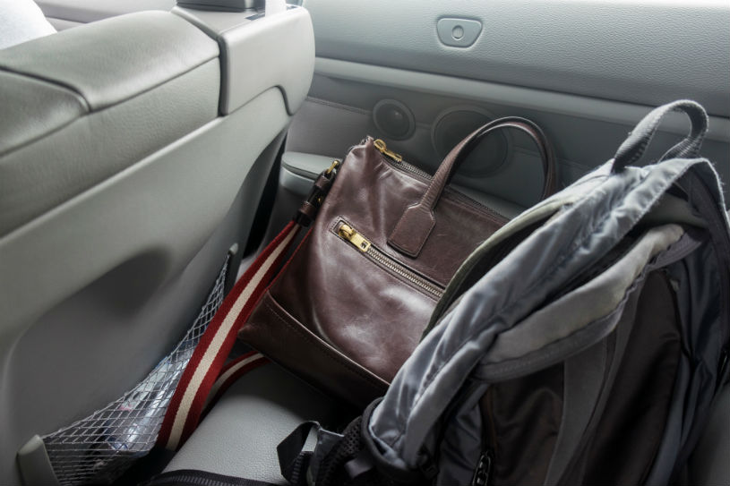 personal items left in car