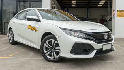 sheen accident replacement vehicle honda civic