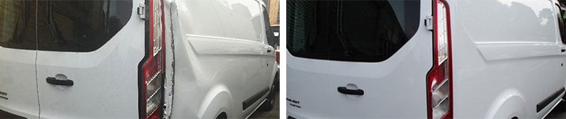 van before after kensington
