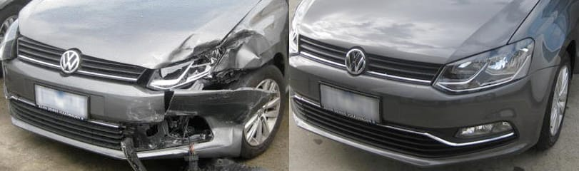 Volkswagen Golf smash repairs